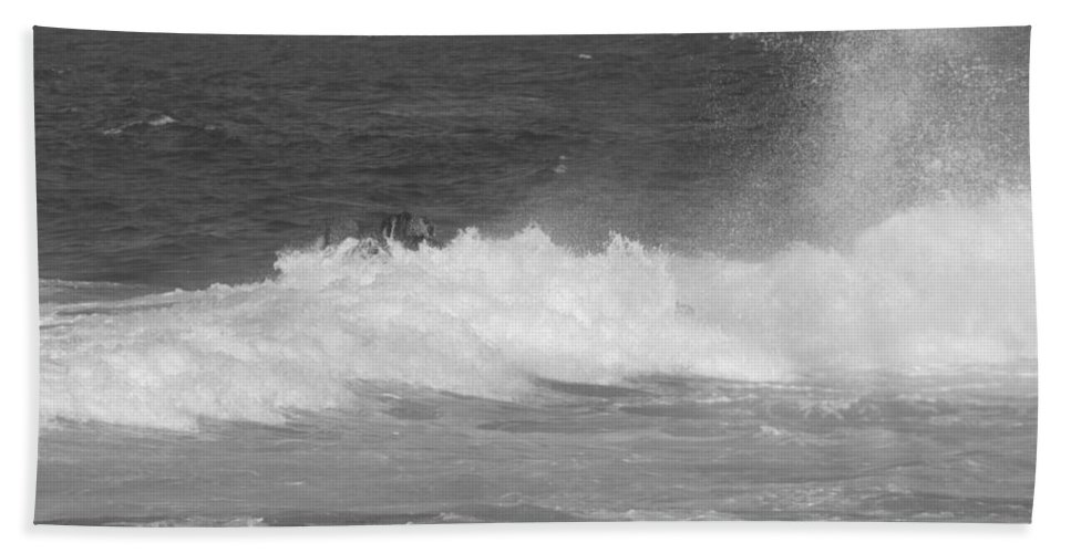 Waves Beach Towel featuring the photograph Wave Mist by Kathleen Grace