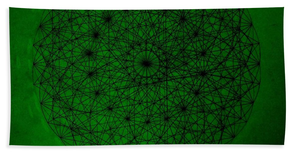 Fractals Beach Towel featuring the drawing Wave Particle Duality II by Jason Padgett