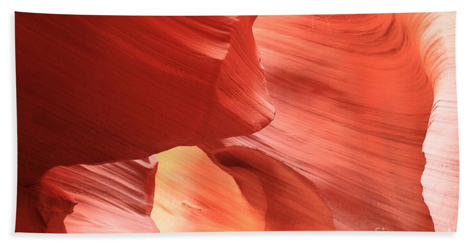 Arizona Slot Canyon Beach Towel featuring the photograph Waves Faces And Light by Adam Jewell