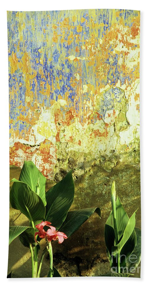 Vietnam Beach Towel featuring the photograph Weathered Wall 01 by Rick Piper Photography