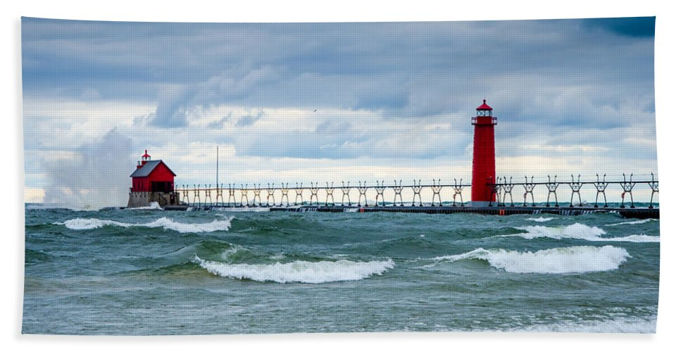 Christopher List Beach Towel featuring the photograph Weathering The Tempest by Gales Of November
