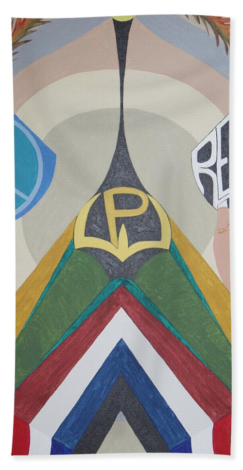 Peace Beach Towel featuring the painting Weighing Peace by Dean Stephens
