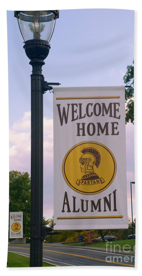 Alumni Beach Towel featuring the photograph Welcome Home Banner by Mark Dodd