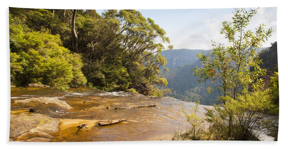 Australia Beach Towel featuring the photograph Wentworth Falls by Tim Hester