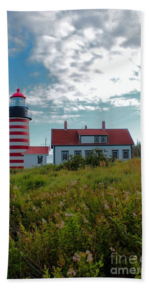 Father's Day Beach Towel featuring the photograph West Quoddy_5442 by Joseph Marquis