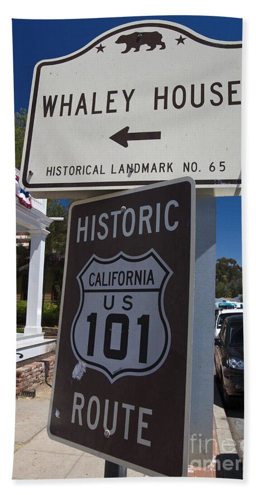 Travel Beach Towel featuring the photograph Whaley House Us Hwy 101 Historic Route by Jason O Watson