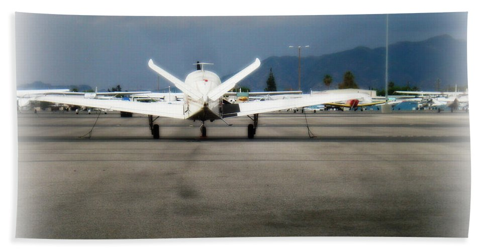 Aviation Beach Towel featuring the photograph What fly girl is dreaming about by De La Rosa Concert Photography