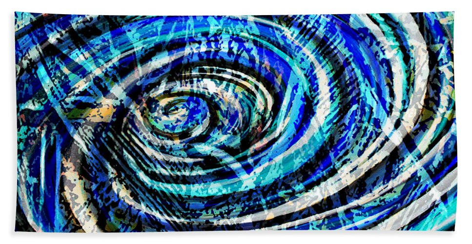 Digital Art Abstract Beach Towel featuring the digital art What Goes Around Comes Around IIi by Yael VanGruber