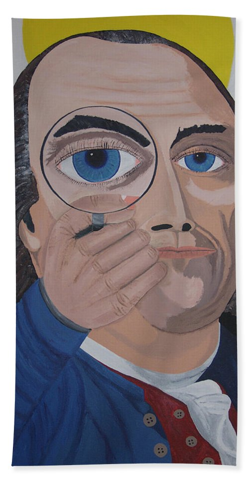 Historical Beach Towel featuring the painting What Have You Done by Dean Stephens
