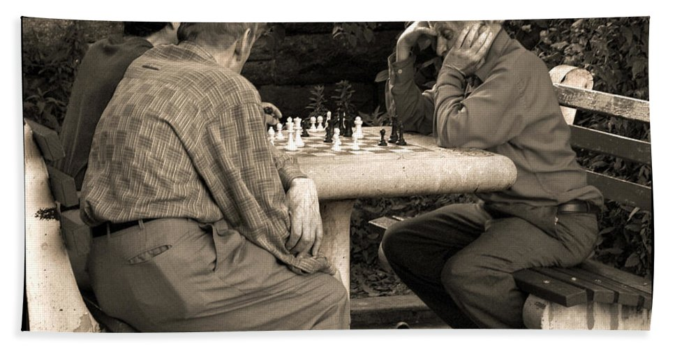 Friends Beach Towel featuring the photograph Where Is Bobby Fischer by Madeline Ellis