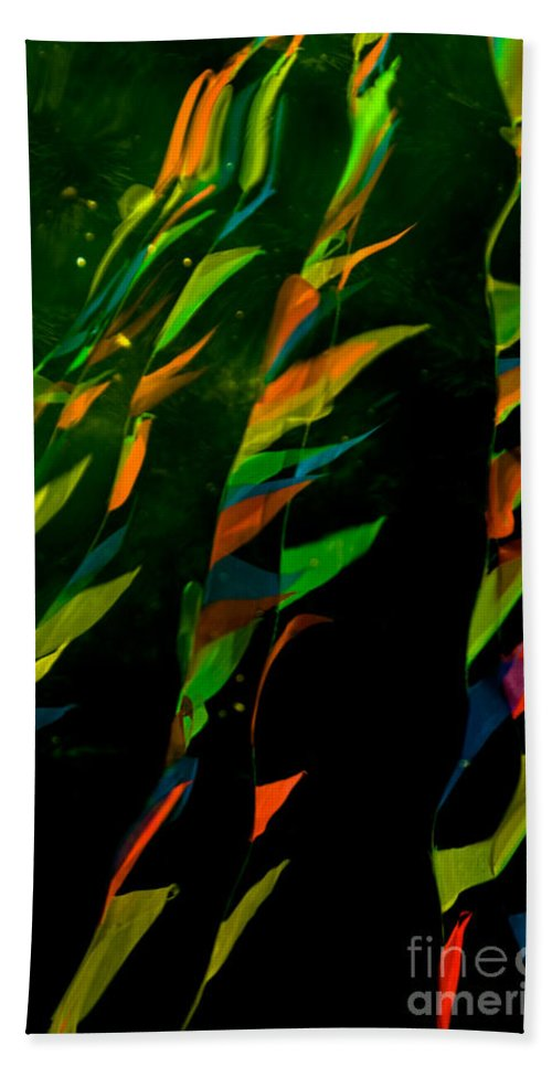 Abstract Beach Towel featuring the photograph Whimsical Flags by Venetta Archer