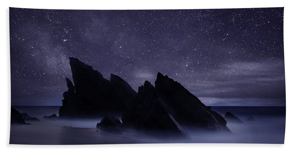 Night Beach Towel featuring the photograph Whispers of eternity by Jorge Maia
