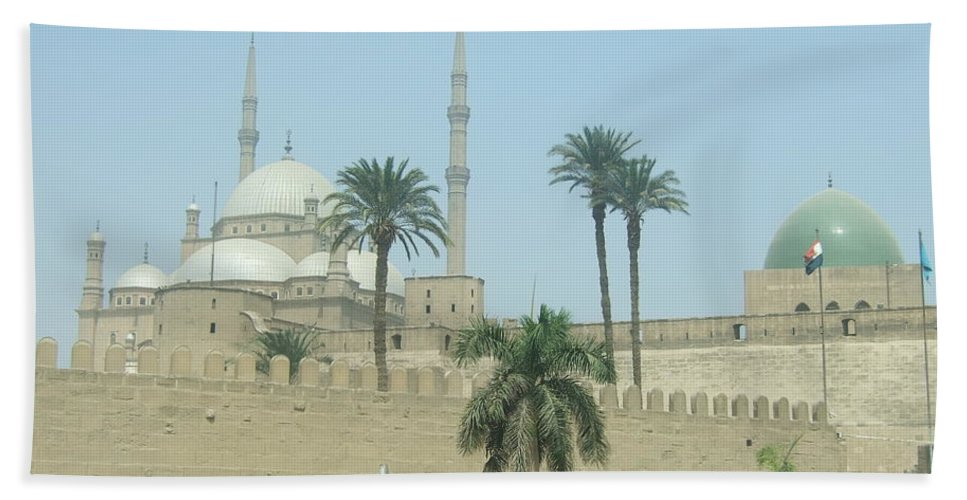 Egypt Beach Towel featuring the photograph White Mosque by Katerina Naumenko