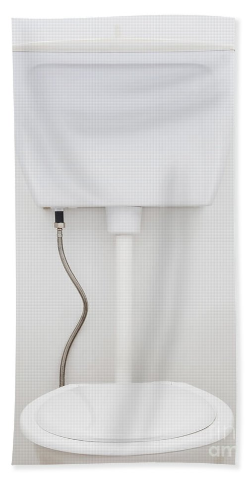 Background Beach Towel featuring the photograph White Toilet by Tim Hester