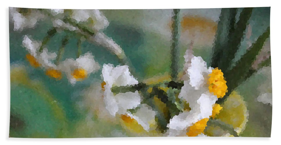 Spring Beach Towel featuring the photograph Whiteness In The Vase by Augusta Stylianou