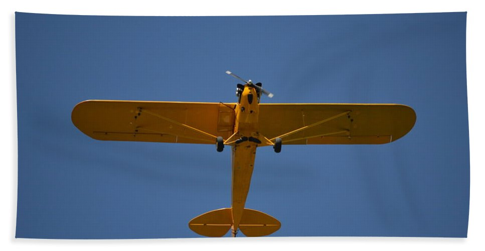 Airplane Beach Towel featuring the photograph Wild Blue Yonder by Bonfire Photography