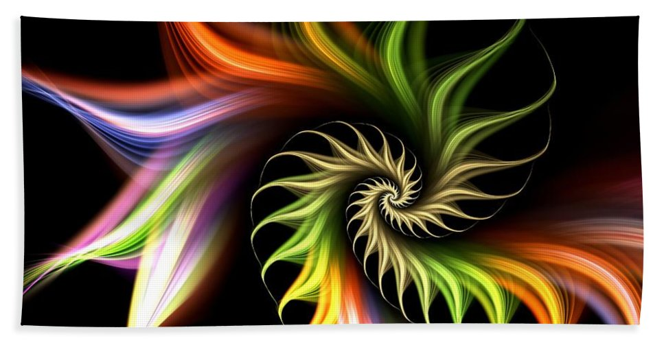 Malakhova Beach Towel featuring the digital art Wild Flower by Anastasiya Malakhova