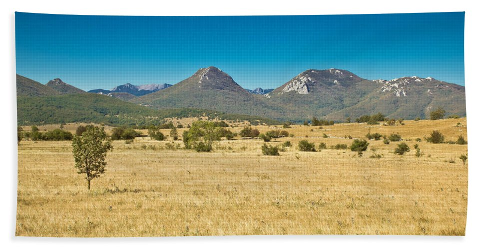 Landscape Beach Towel featuring the photograph Wild Landscape Of Lika Region Croatia by Brch Photography