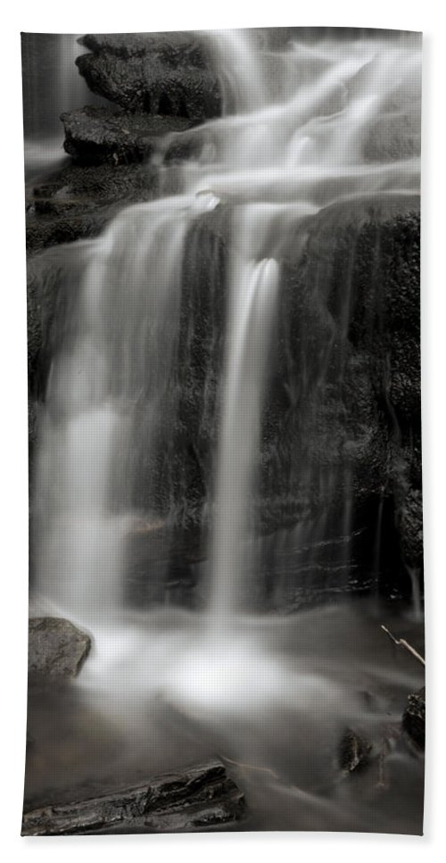 Canyon Beach Towel featuring the photograph Wilderness Waterfall by John Stephens