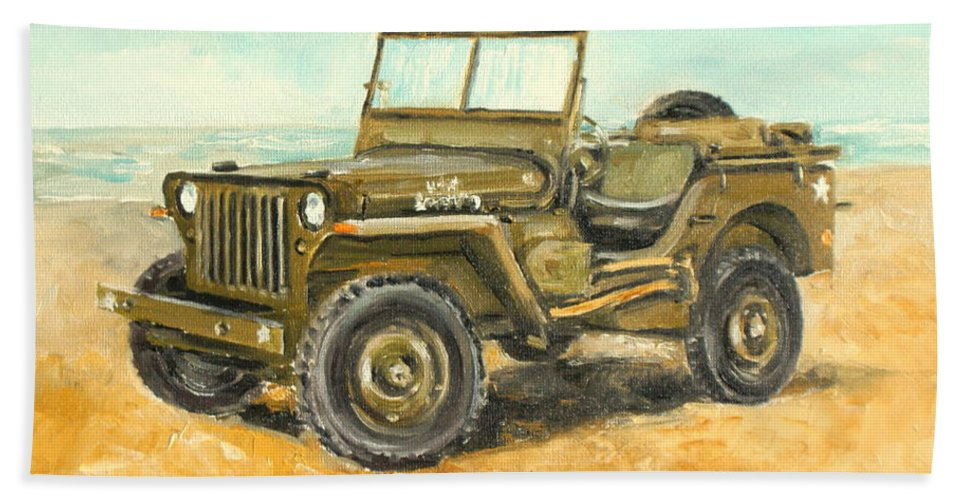 Willys Jeep For Sale >> Willys Jeep Beach Towel