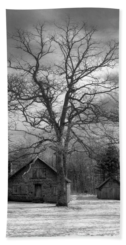 Appalachia Beach Towel featuring the photograph Wilson Lick Ranger Station by Debra and Dave Vanderlaan