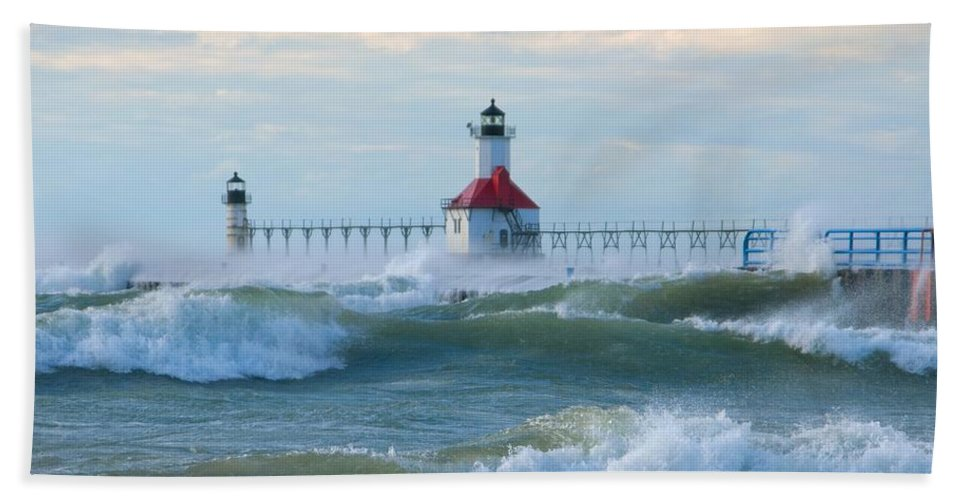 Wind Beach Towel featuring the photograph Wind-borne Fury by Ann Horn