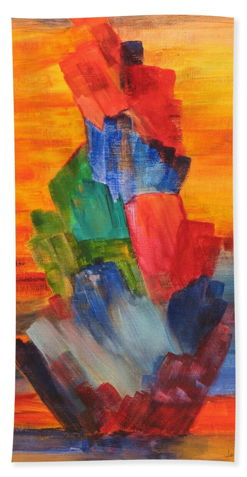 Crystals Beach Towel featuring the painting Windjammer by Jennifer Hillman