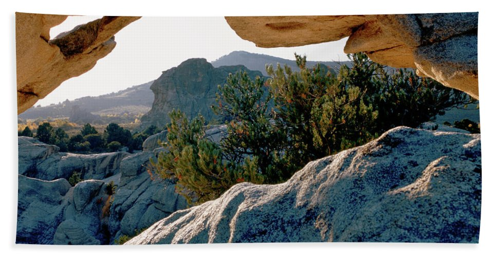 Mountains Beach Towel featuring the photograph Window Arch City Of Rocks Idaho by Ed Riche