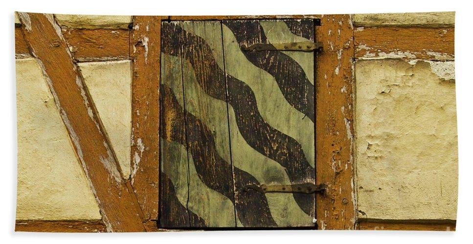 Koehrer-wagner_heiko Beach Towel featuring the photograph Window Shutter 2 by Heiko Koehrer-Wagner