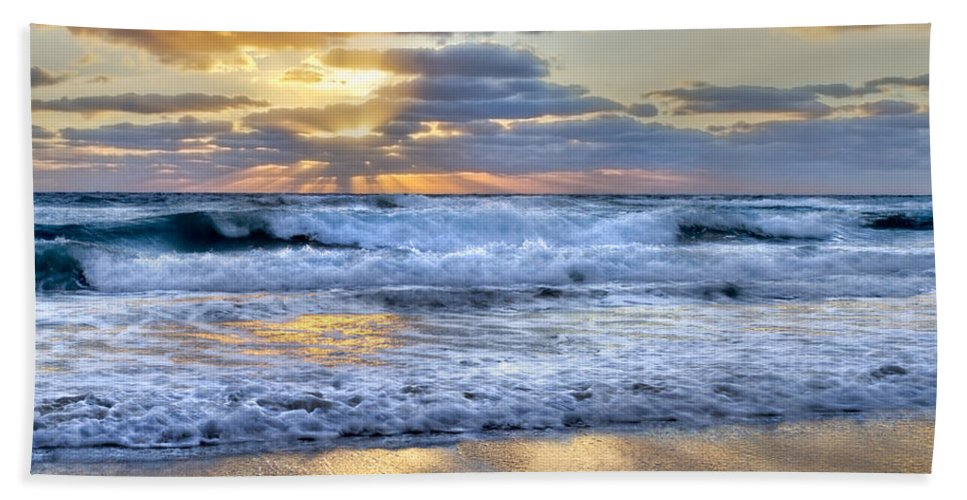Clouds Beach Towel featuring the photograph Window To Heaven by Debra and Dave Vanderlaan