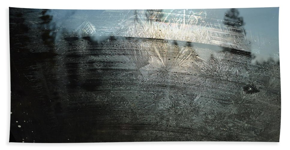 Windshield Beach Towel featuring the photograph Windshield Work by Brian Boyle