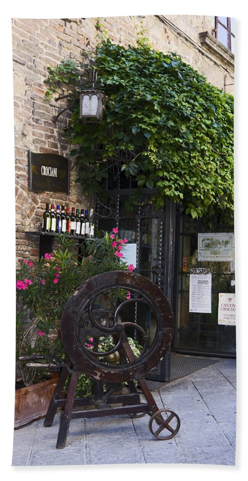 Wine Store Beach Towel featuring the photograph Wine Shop by Sally Weigand