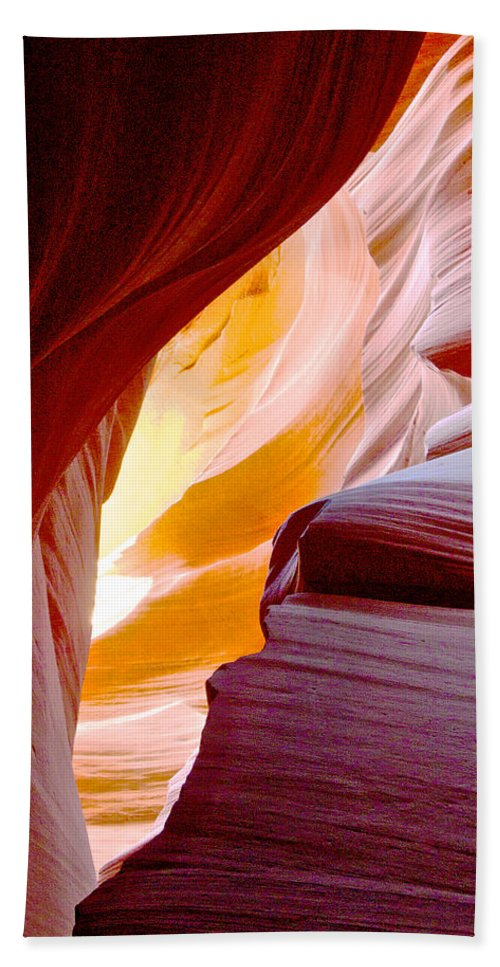 Wink In Lower Antelope Canyon In Lake Powell Navajo Tribal Park Beach Towel featuring the photograph Wink In Lower Antelope Canyon In Page-arizona by Ruth Hager