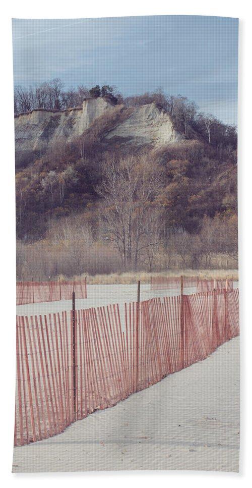 Landscape Beach Towel featuring the photograph Winter Beach by Kyra Savolainen