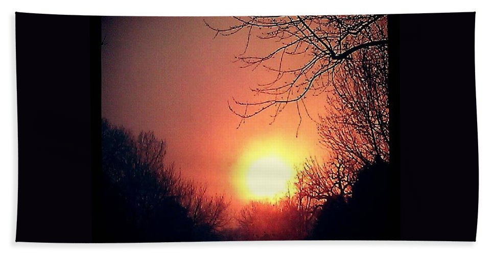 Winter Beach Towel featuring the photograph Winter Fire by Stephanie Wagner