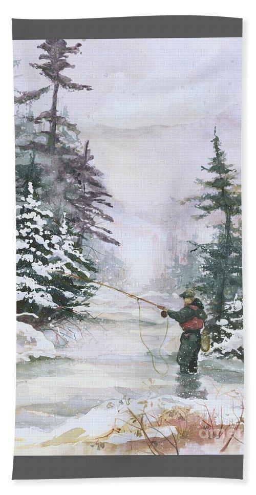 Magic Beach Towel featuring the painting Winter Magic by Elisabeta Hermann
