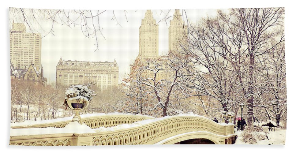 Nyc Beach Towel featuring the photograph Winter - New York City - Central Park by Vivienne Gucwa