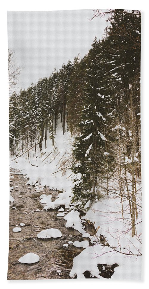 Winter Beach Towel featuring the photograph Winter River by Pati Photography