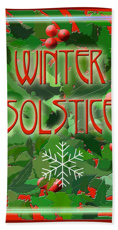 Yule Beach Towel featuring the digital art Winter Solstice by Melissa A Benson