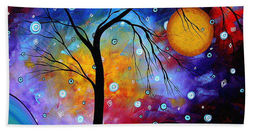 Abstract Beach Towel featuring the painting Winter Sparkle Original Madart Painting by Megan Duncanson