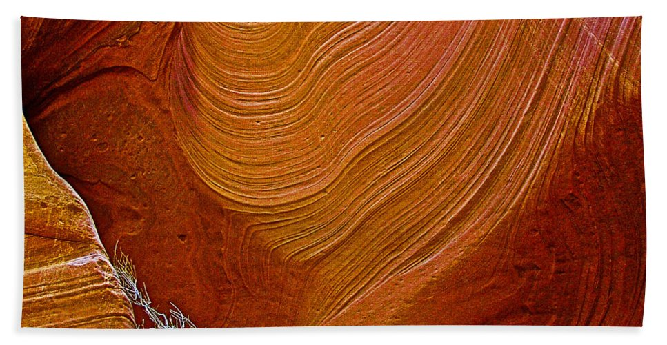 Wispy Relic In Lower Antelope Canyon In Lake Powell Navajo Tribal Park Beach Towel featuring the photograph Wispy Relic In Lower Antelope Canyon In Lake Powell Navajo Tribal Park-arizona  by Ruth Hager