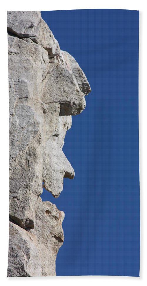 Witch Beach Towel featuring the photograph Witch Rock by Shane Bechler
