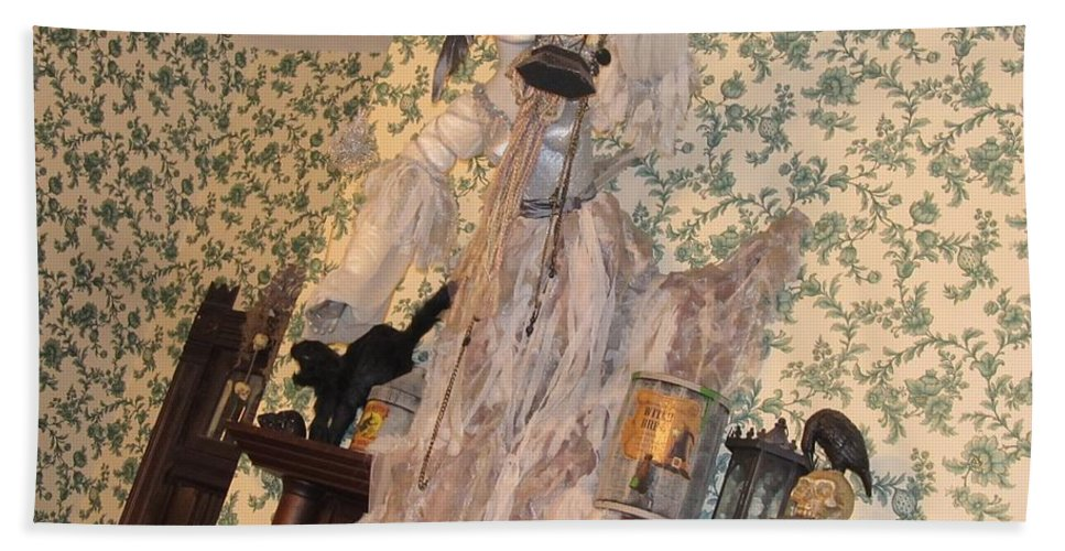 Ghosts Beach Towel featuring the photograph Witch Spirit At The Catfish Plantation Restaurant by Donna Wilson
