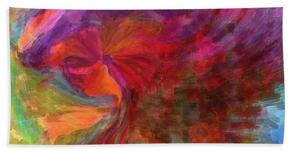 Woman Art Beach Sheet featuring the digital art Women by Linda Sannuti