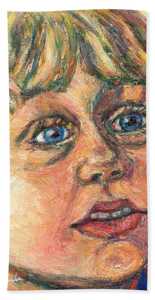 Portrait Beach Towel featuring the painting Wonder by Kendall Kessler