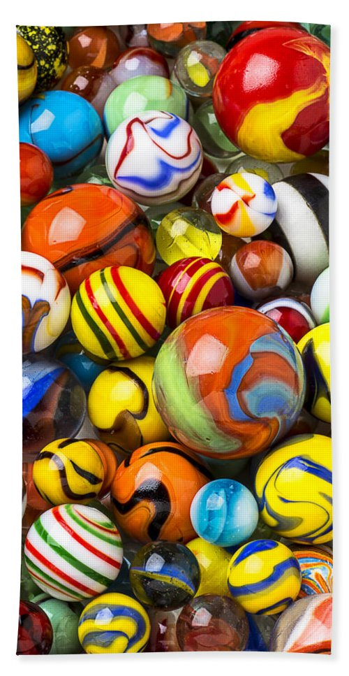 Pile Beach Towel featuring the photograph Wonderful Marbles by Garry Gay