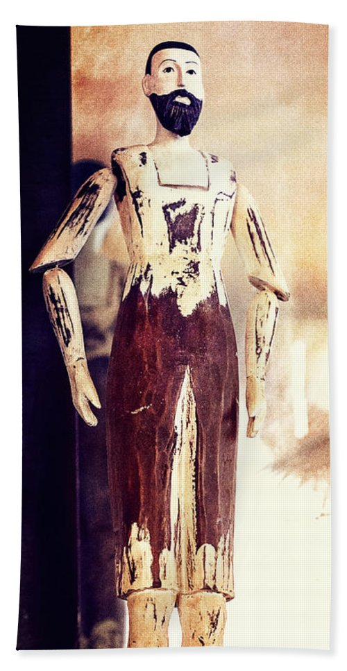 Mannequin Beach Towel featuring the photograph Wooden Man by Caitlyn Grasso
