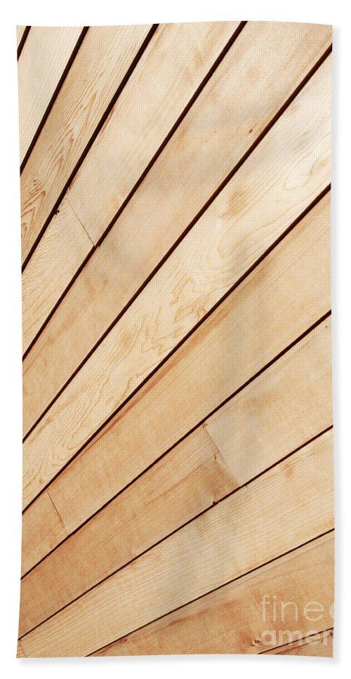 Abstract Beach Towel featuring the photograph Wooden Texture by Deborah Benbrook