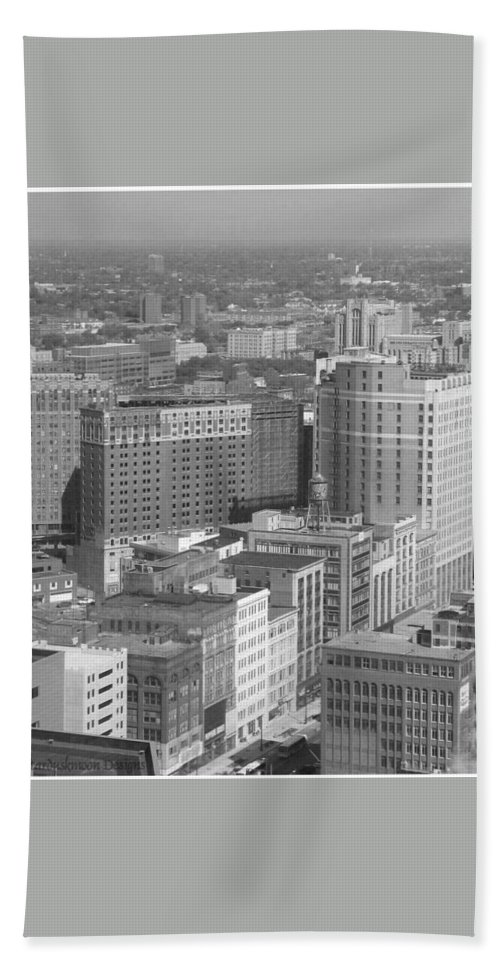 Detroit Beach Towel featuring the photograph Woodward Avenue Bw by Crystal Hubbard