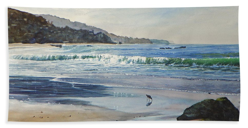 Maritime Beach Towel featuring the painting Worth A Thousand Steps by Bill Hudson